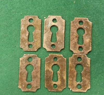 3  PAIRS DECORATIVE VICTORIAN embossed design  STYLE KEY HOLE COVERS~CAST IRON