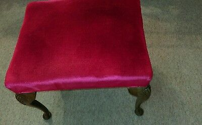 Antique victorian mahogany large sprung piano/ foot / dressing table seat stool 5