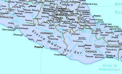 COOL OWL MAPS Mexico, Central America & Caribbean Wall Map - Paper ...