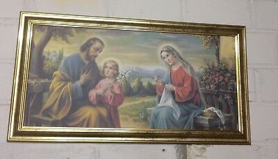 JESUS Maria /& Joseph Ikonen Bild 77x42 Baby Jesus Holy Family sacra famiglia