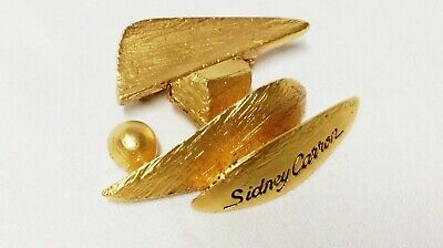 ORIGINALE BROCHE  SCULPTURE signée SIDNEY CARRON PARIS 5