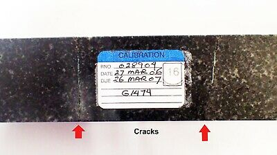 "RAHN PRECISION BLACK GRANITE METROLOGY PARALLELS  9 X 1.5 x 0.75"" 5"