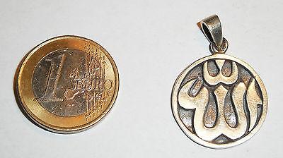 Anhänger Kette ALLAH Schriftzeichen Symbol ECHT 925 Silber ISLAM Moslem SS87