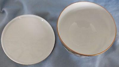 Japanese Arita Gold Gilt & White Flower Lidded Bowl 4