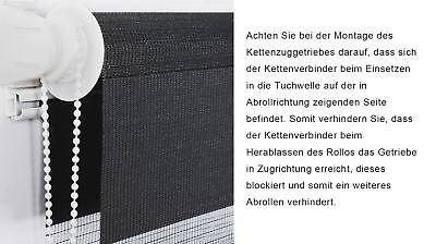 Doppelrollo Klemmfix ohne Bohren Duo Rollo Zebra Seitenzug Fenster Tür #324-a 5