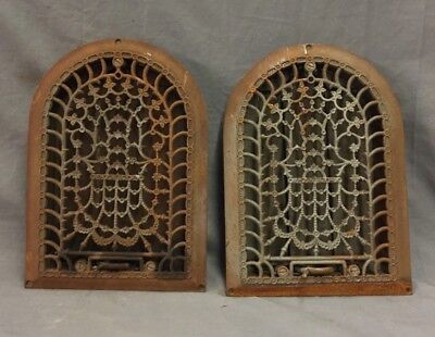 Antique Cast Iron Arch Decorative Heat Grate Register Stars 8X12 Dome Vtg 28-19C 9