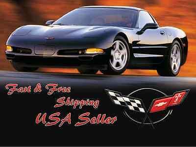 Rear Deck Lid Cross Flags Emblem Replaces 19207385 Fits 1997-2004 C5 Corvette 3