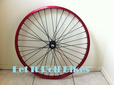 "Blue 26/"" Bicycle Alloy WheelSet 12G Heavy Duty Spokes Cruiser Bikes"