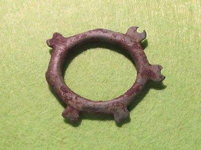 Sarmatia-Scythian Bronze Amulet-Symbol With Moons-Selene7-4th Century BC #1