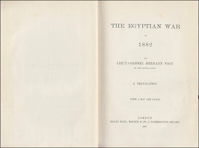 Vogt THE EGYPTIAN WAR OF 1882, Egypt BOMBARDMENT of ALEXANDRIA Suez BRITISH ARMY 3