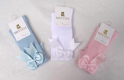 Mintini Baby & Guijarros Girls Spanish Style Romany Ribbon Bow Knee High Socks 2