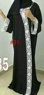 Women open front abaya.japanese Neda /linen material.new model  size 52.54.56.58 2