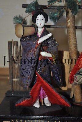 2 Antique Japanese Doll NINGYO Bodyguard & Princess HINA 5
