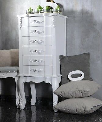 Chest Of Drawers Cabinet Chiffonier Bedside Table Antique French Style White 2