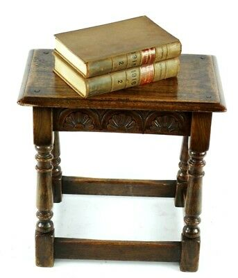 Antique English Carved Oak Joint Stool 19th C - FREE Shipping [PL4869] 6