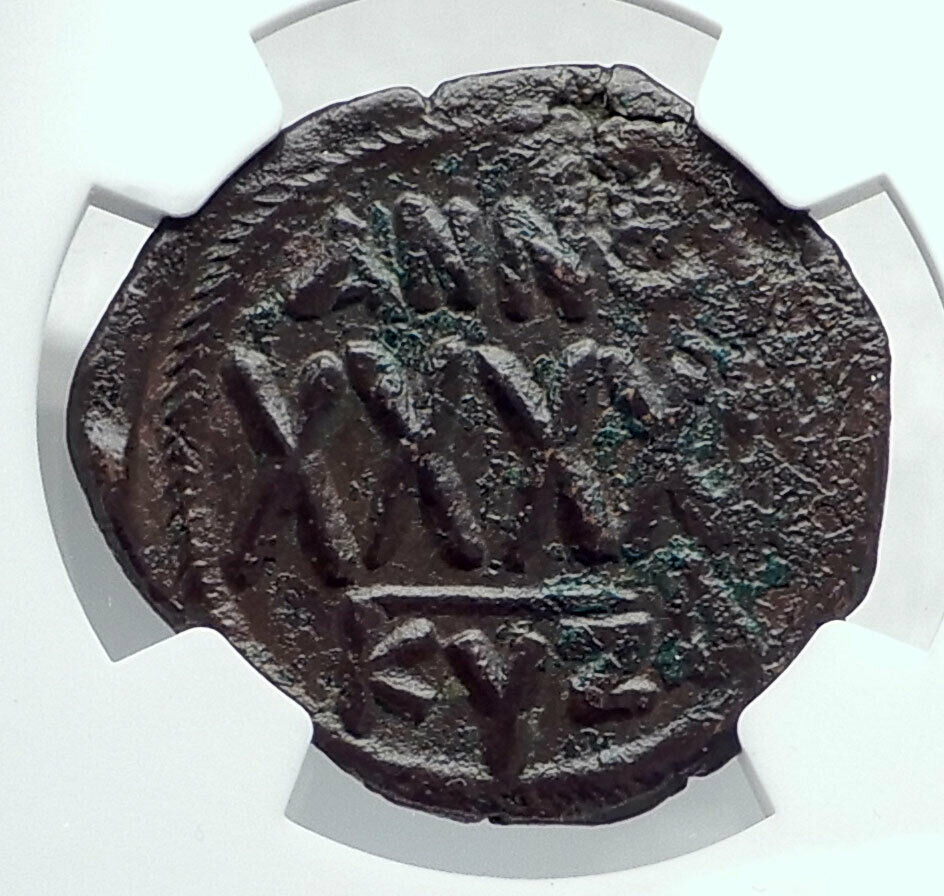 PHOCAS Authentic Ancient 602AD Follis Genuine Medieval Byzantine Coin NGC i81326 2