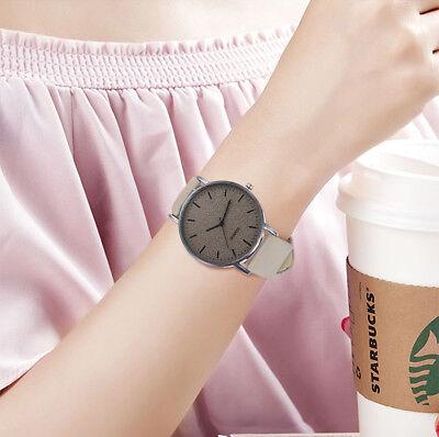 Unisex Fashion Casual Women's Watches Men Leather Bracelet Quartz Wrist Watch 8