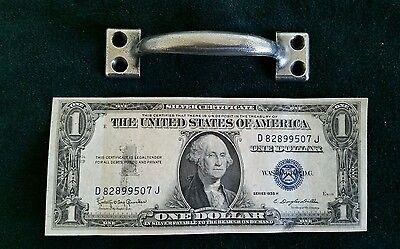 Set of 10 matching vintage, old metal pulls or handles restored