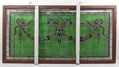 Large Vintage American Candy Store Stained Glass Window (2375)NJ 5