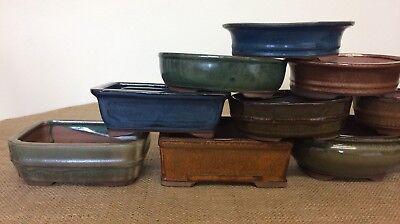 16cm Mixed Bonsai Pots X5 6