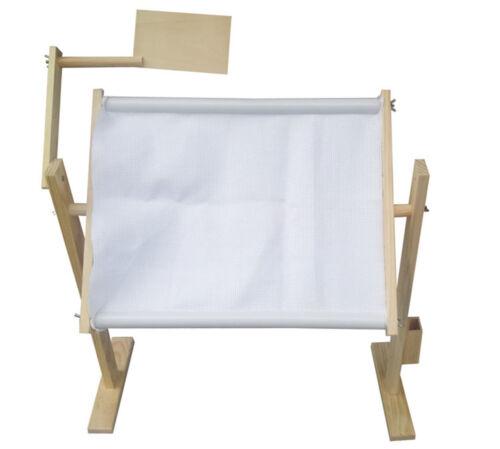 Adjustable Solid Wood Cross Stitch Rack Needlework Stand Wood Stitch Lap Table