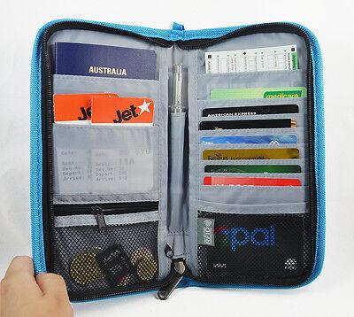 RFID Blocking Anti Scan Travel Wallet Passport Credit Card Holder Pouch Pen Tag 2