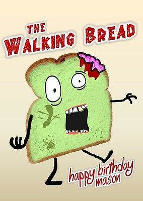 Personalised the walking bread deadzombiehorrorjoke birthday 2 of 3 personalised the walking bread deadzombiehorrorjoke birthday card bookmarktalkfo Choice Image
