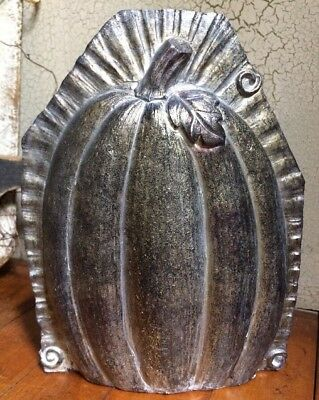 Antiqued Tin Style Turkey Cart//Pumpkin Halloween Distressed Resin Chocolate Mold