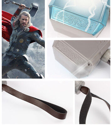 Avengers LED Glowing Sounds Thor Hammer Axe Helmet Mask Kids Cosplay Toys US 6