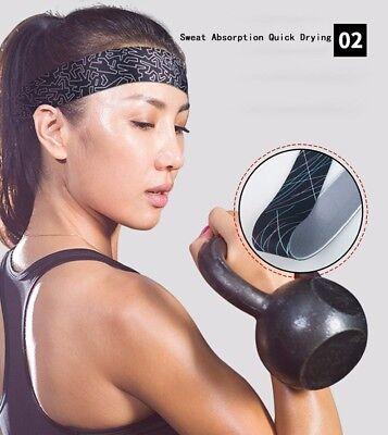 Womens Mens Sports Sweat Sweatband Headband Yoga Gym Fitness Stretch Head Band 3