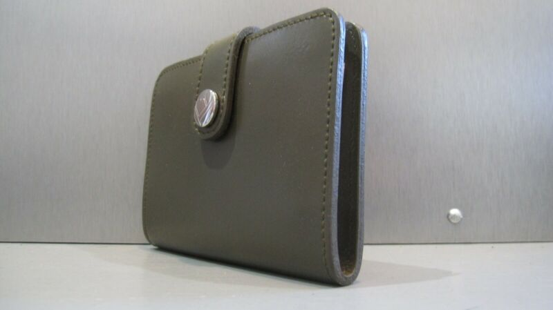 NWOT FURLA Slim Leather Note Pad Address Book Wallet 2