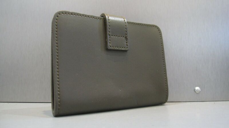 NWOT FURLA Slim Leather Note Pad Address Book Wallet 4