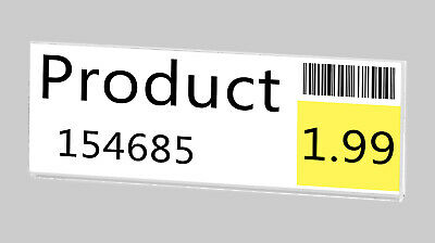 """Magnetic Ad Frame Sign Holder 3.5""""W x 1""""H Name Plate Small Signage No Holes 9"""
