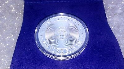 1 oz Fine Silver .999 Unicorn Forklore High Relief Round w/ Capsule & Coin Pouch 4