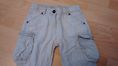 Girls cropped stone coloured combats.  Age 7 years.  From Next. 2