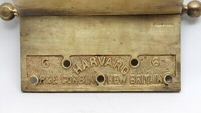 6 x 6 Corbin Harvard Cast Brass Butt Antique Door Hinge 3