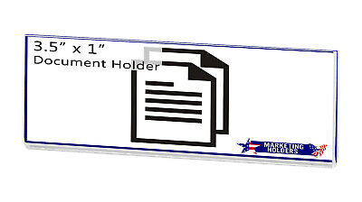 """Magnetic Ad Frame Sign Holder 3.5""""W x 1""""H Name Plate Small Signage No Holes 10"""