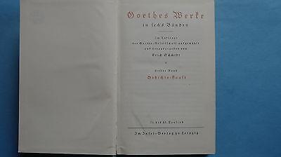 16615 Goethes Werke In Sechs Bänden Erster Band