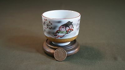 Fine Japanese Meiji Period Polychrome Kutani Tea Cup Signed 8