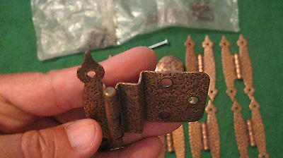 Lot-Primitive Hammered Copper Hinges (8), Knob(1) Made In The Usa, Rockford, Il 4