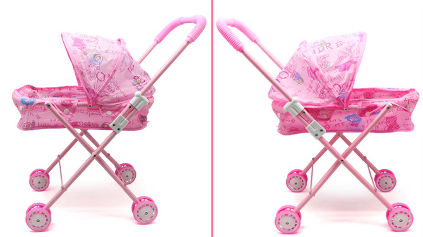 Baby Kids child Dolls Buggy Stroller Jogger Dolls Pram Pushchair Girls Toy UK 6