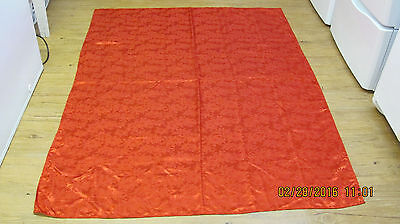 "Red Poinsettia Damask Christmas Tablecloth 68"" X 52"" 2"