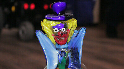 "Italian Murano Vintage Clown Glass Figurine 11"" 3"