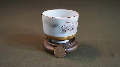 Fine Japanese Meiji Period Polychrome Kutani Tea Cup Signed 6