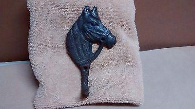 2 Cast Iron Horse Head single hook  Coat Towel Rack  Cowboy Rustic #162-54