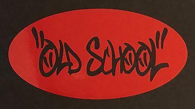 NEW CHROME OLD SCHOOL DECAL STICKER CAR FORD CHEVY DODGE VW JDM HONDA MAZDA EURO