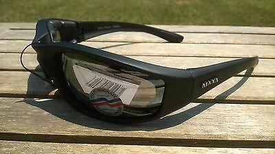 Maxx HD Motorcycle sunglasses Black yellow lens foam 2.0 padding ATV