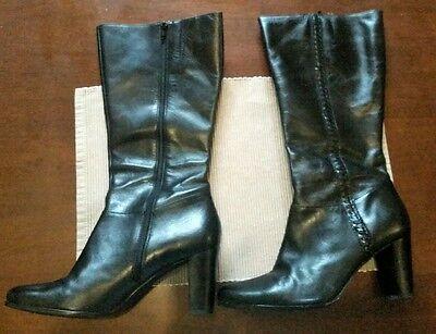 debster size 10 black leather boots pristine