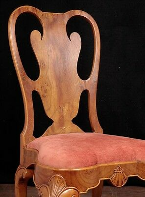 Set 10 Queen Anne Dining Chairs Walnut Diners 9