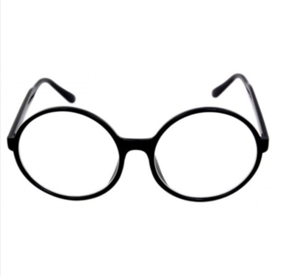 ROUND BIG OVERSIZED Circle Black Clear BOHO Style Nerd Eyeglasses Frames  Glasses